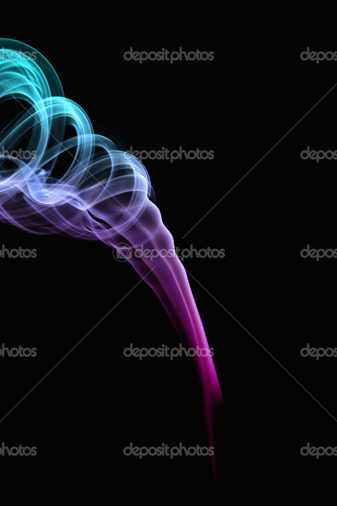 Color smoke on the black background   Lizenzfreies Foto #2318488