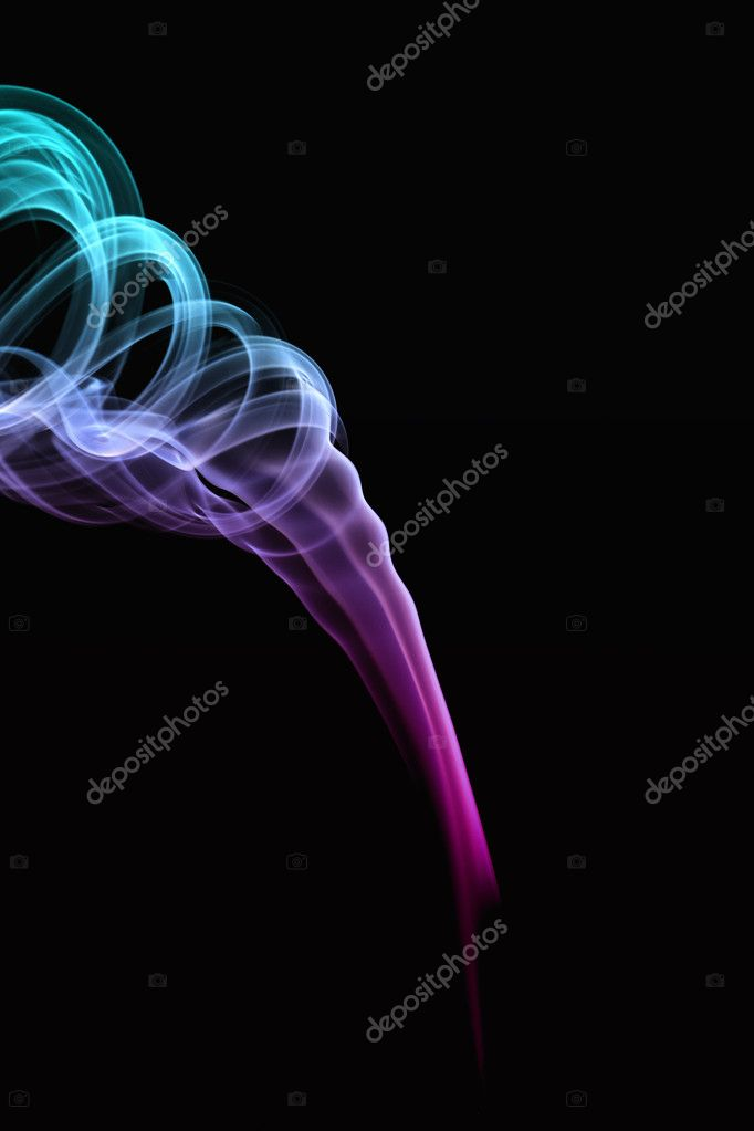 Color smoke on the black background   Foto Stock #2318488