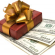 Stock Photo: Gift and money