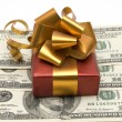 Royalty-Free Stock Photo: Gift and money