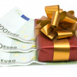 Stock Photo: Money and gift