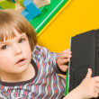 Child with laptop — Stock Photo #1018646