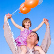 Stock Photo: Man and child