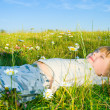 Royalty-Free Stock Photo: Child on the grass