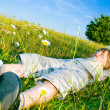Stock Photo: Child on the grass