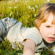 Child on the grass — Stock Photo #1020898