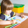 Child draws — Stock Photo #1020957