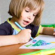 Royalty-Free Stock Photo: Child draws