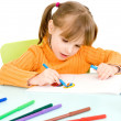 Foto Stock: Child draws