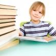 Child and book — Stock Photo
