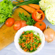Preparing vegetable salad — Stock Photo