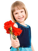 Child with carnation — Stock Photo