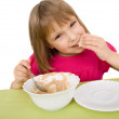 Child eat — Stock Photo