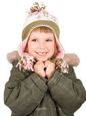 Child in winter clothes — Stock Photo