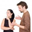 Wife and husband yelling at each other — Stock Photo #1104356