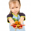 Child and gift — Stock Photo #1133982