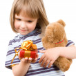 Royalty-Free Stock Photo: Child and gift