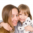 Young mother and little daughter — Stock Photo