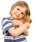 Little girl with toy — Stock Photo