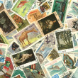 Collection of vintage stamps — Stock Photo