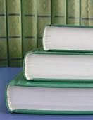 Zelené knihy — Stock fotografie