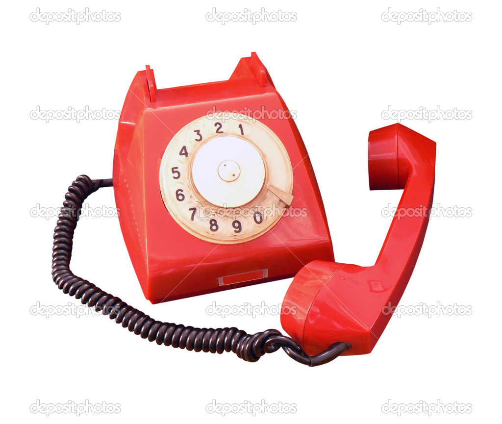 Old vintage phone on white background — Stock Photo #1033837