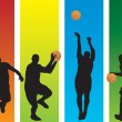 Basketball Players — Image vectorielle