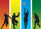 Basketball Players — Vector de stock