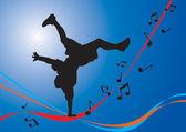 Breakdancing Flow — Stock Vector