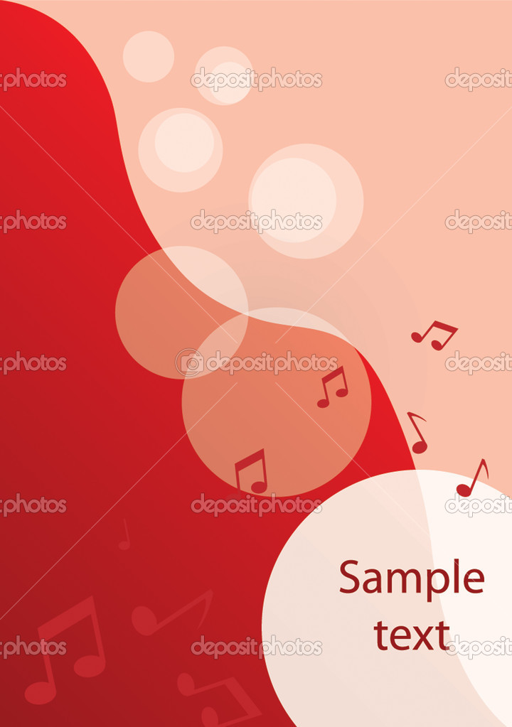 Music background for you design. Vector — Stock Vector #1035609