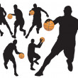 Basketball Players — Imagen vectorial