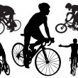 Cyclists — Stock Vector