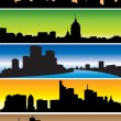 Skylines — Stock Vector