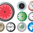 Office wallclocks — Stockvektor