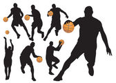 Basketball Players — Vettoriale Stock