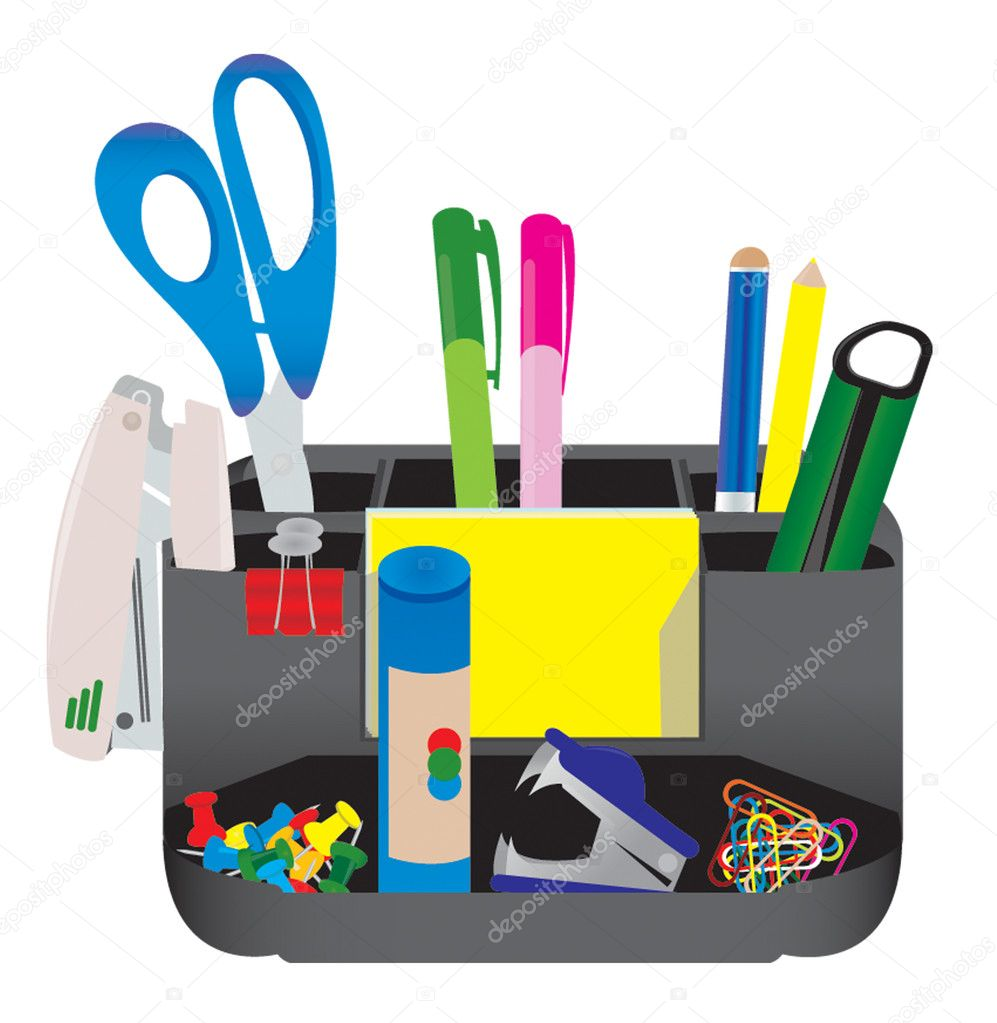 Office tools — Stock Vector © Romul-2009 #1084463