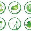 Stock Vector: Green symbols