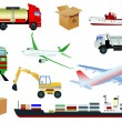 Transportation icons — Stock Vector