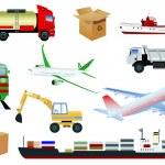 ícones de transporte — Vetor de Stock  #1436727