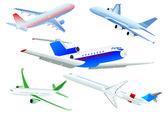 Passenger planes — Stock Vector