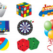 Royalty-Free Stock Vector Image: Games & toys icons