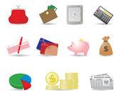 Pieniądze i interesy ikony — Wektor stockowy