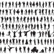 Royalty-Free Stock Vector Image: Silhouettes of the