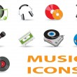 Music icons — Stockvektor