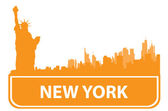 New York sity outline — Stock Vector