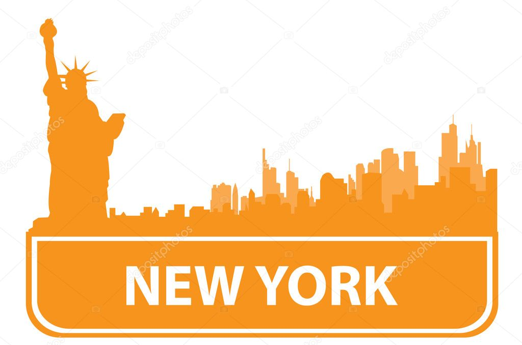 New York sity outline. Vector illustration for you design  — Stock Vector #2505525