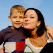 Stock Photo: Mother and son