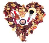 Cosmetics dry petals — Stock Photo