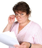 Woman with documents — Stock Photo