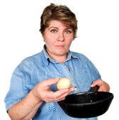 Mulher, preparar os alimentos — Foto Stock